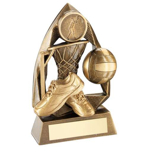 Brz/Gold Netball Diamond Collection Trophy