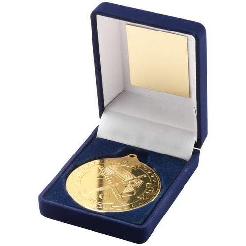 50mm Boxed Hockey Medal
