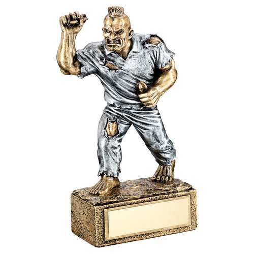 Funny darts trophy with beast figure