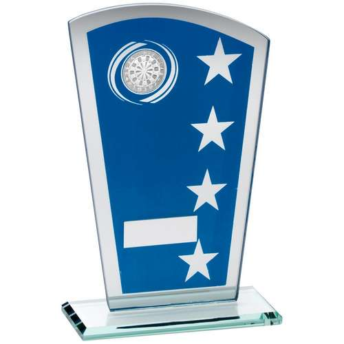 Glass Darts Trophy - Blue and Silver Stars