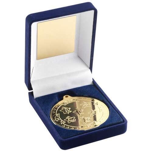 50mm MULTI ATHLETICS Medal in Blue Box