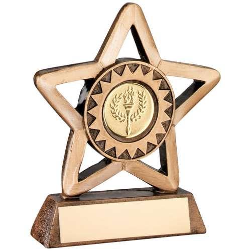Bronze/Gold mini star trophy