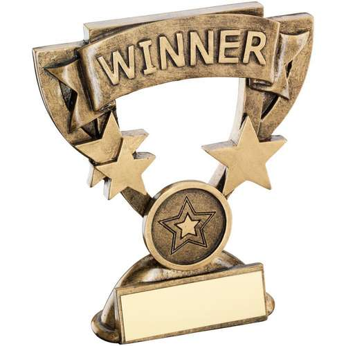 BRZ/GOLD WINNER MINI CUP TROPHY