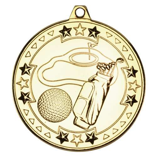 Golf tri star medal