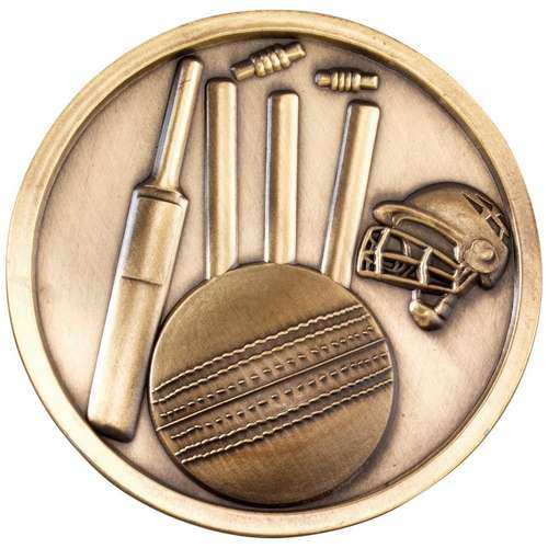 70mm cricket medallion