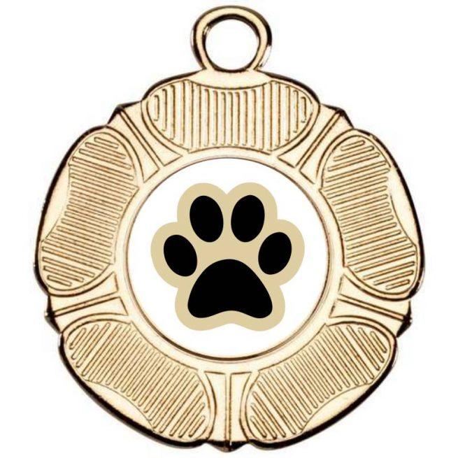Tudor Rose Dog Medal