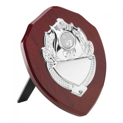 Rosewood Netball Shield with Single Chrome Front