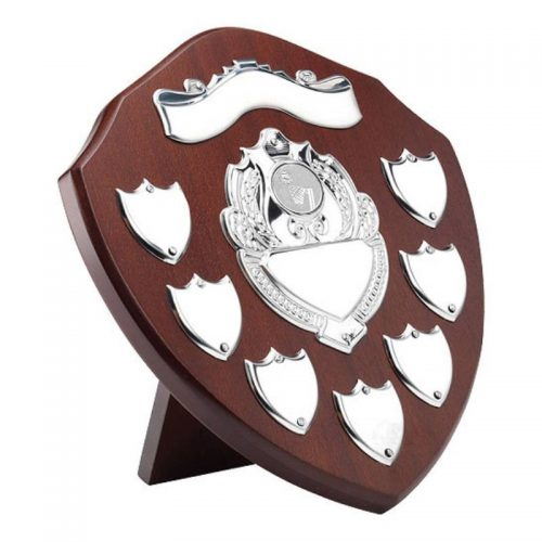 Rosewood Netball Shield with Chrome Front