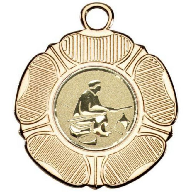 Gold fishing medal