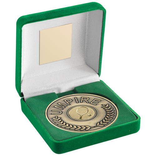 70mm Tennis Umpire Medallion in Green Box