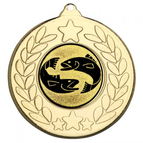 Two fish star and wreath medal