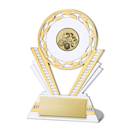 Q130 Cycling Silver/Gold Plastic Trophy