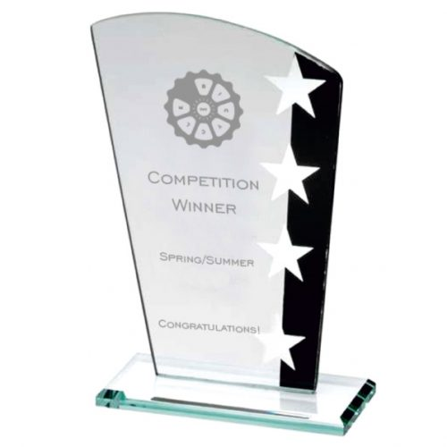 SK2 - Cycling Glass Star Design Trophy