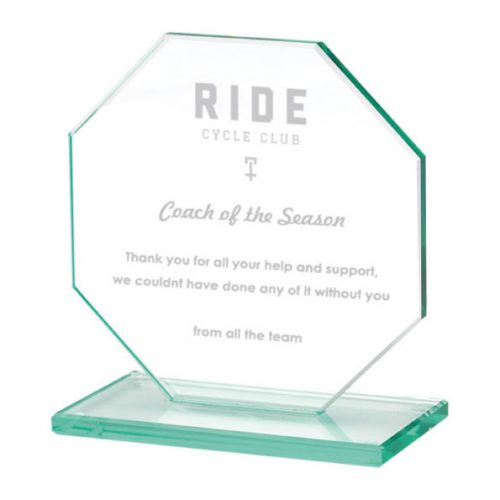 TP07-Cycling Octagon Glass Trophy