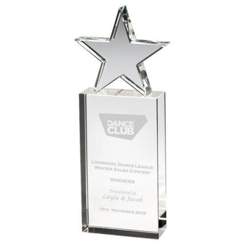 JB1800 Dance Glass Star Trophy