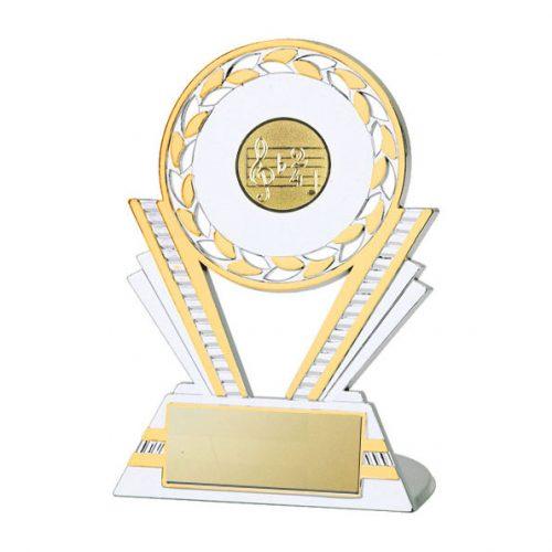 Q130 Dance/Music Silver/Gold Plastic Trophy