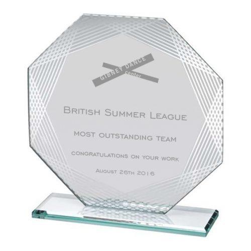 SL1 glass octagon dance award