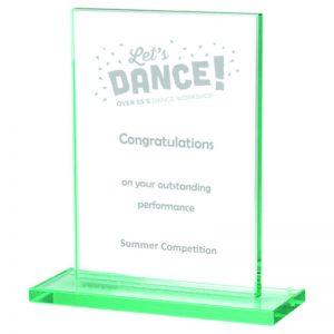 TP02 Dance Rectangular Glass Trophy
