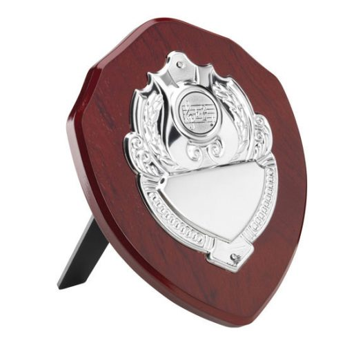 Dance/Music Wooden Shield with chrome front